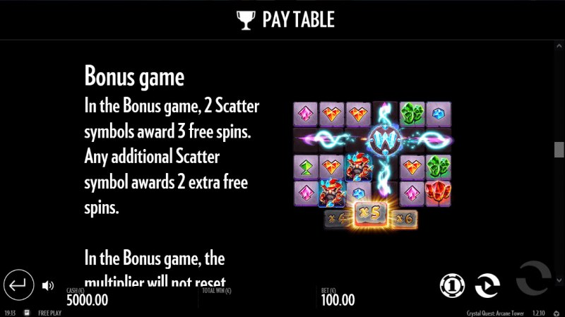 Crystal Quest Arcane Tower :: Bonus Game