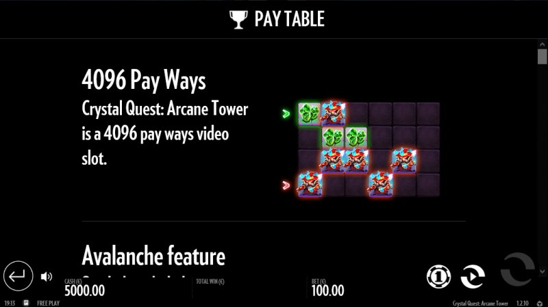 Crystal Quest Arcane Tower :: 4096 Ways to Win