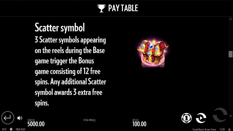 Crystal Quest Arcane Tower :: Scatter Symbol Rules