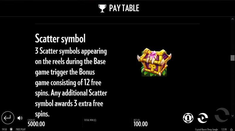 Crystal Quest Deep Jungle :: Scatter Symbol Rules