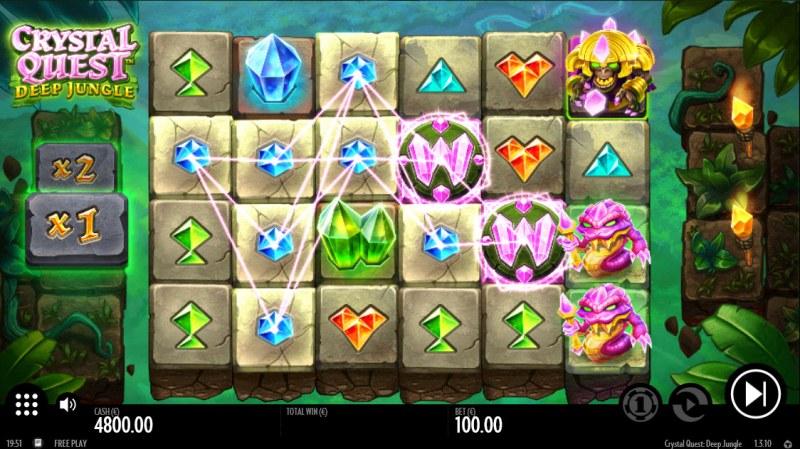 Crystal Quest Deep Jungle :: Multiple winning combinations