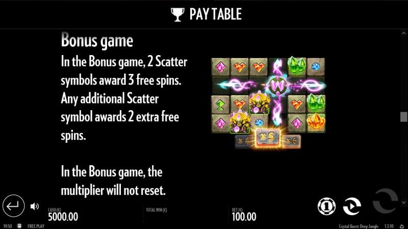 Crystal Quest Deep Jungle :: Bonus Game