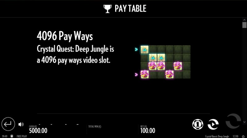 Crystal Quest Deep Jungle :: 4096 Ways to Win