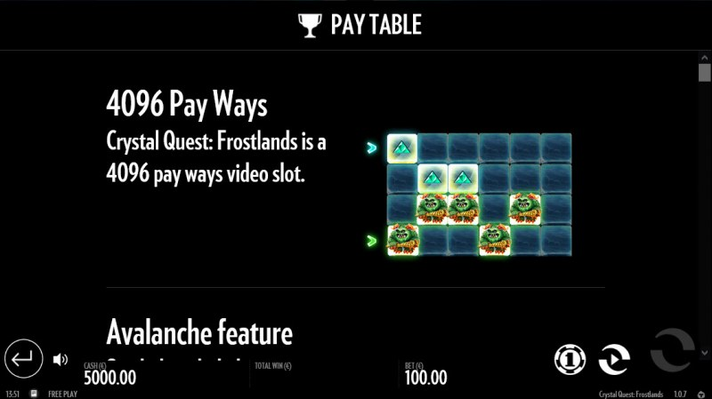 Crystal Quest Frostlands :: 4096 Ways to Win