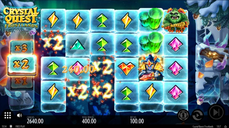 Crystal Quest Frostlands :: Multiple winning combinations