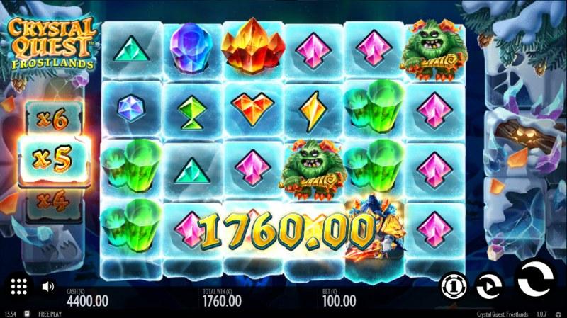 Crystal Quest Frostlands :: Total cascade win