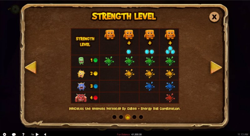 Cubee Time Travel Adventure :: Strength Level