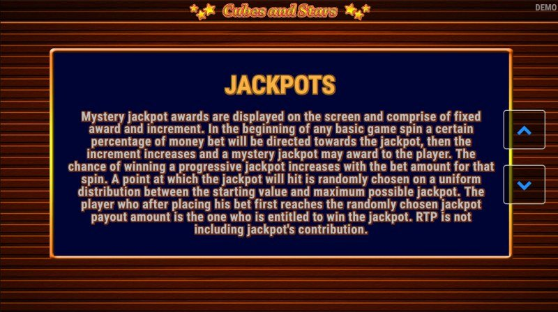 Cubes and Stars :: Jackpot Rules