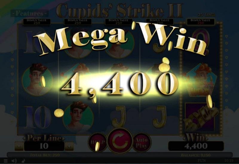 Cupids' Strike II :: Mega Win