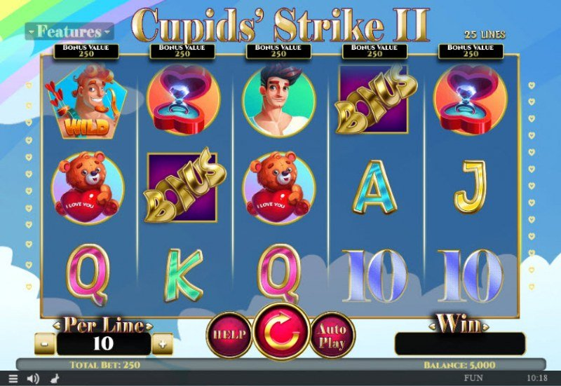 Play slots at Abo Casino: Abo Casino featuring the Video Slots Cupids' Strike II with a maximum payout of $375,000