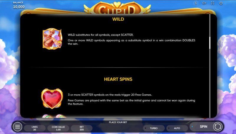 Cupid :: Wild and Scatter Rules
