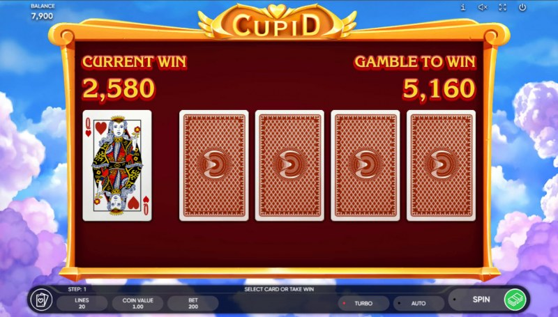 Cupid :: Red or Black Gamble Feature