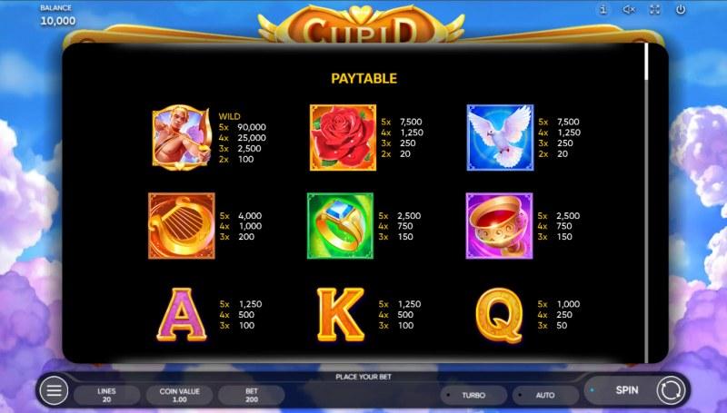 Cupid :: Paytable - High Value Symbols