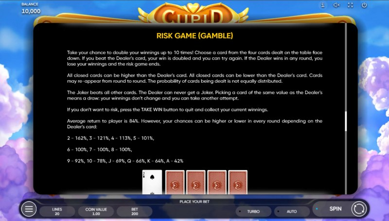 Cupid :: Gamble feature