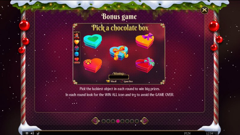 Cupids' Strike Christmas Edition :: Bonus Game Rules