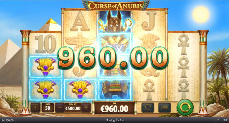 Curse of Anubis :: Multiple winning paylines