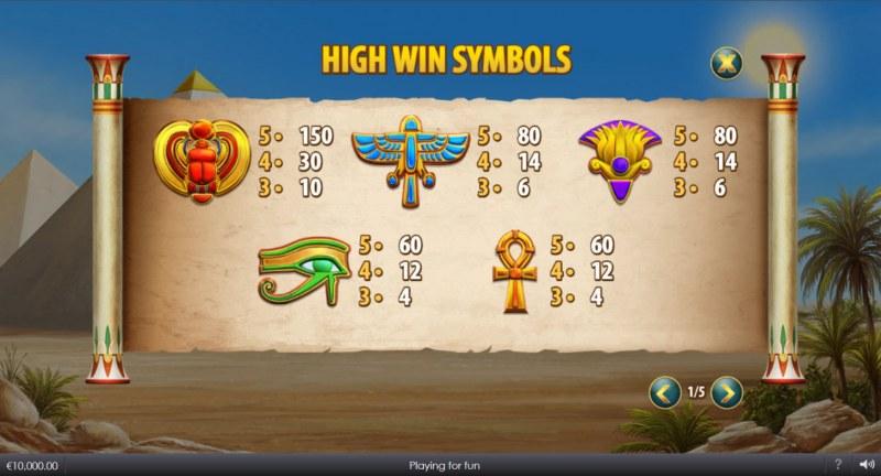 Curse of Anubis :: Paytable - High Value Symbols