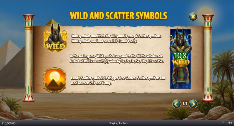 Curse of Anubis :: Wild and Scatter Rules