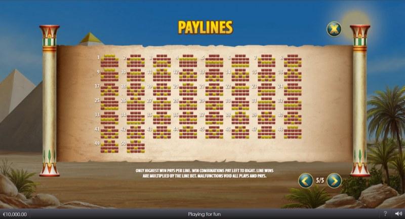 Curse of Anubis :: Paylines 1-50
