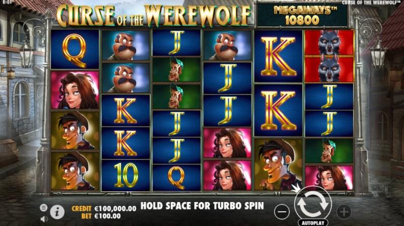 Curse of the Werewolf Megaways :: Main Game Board