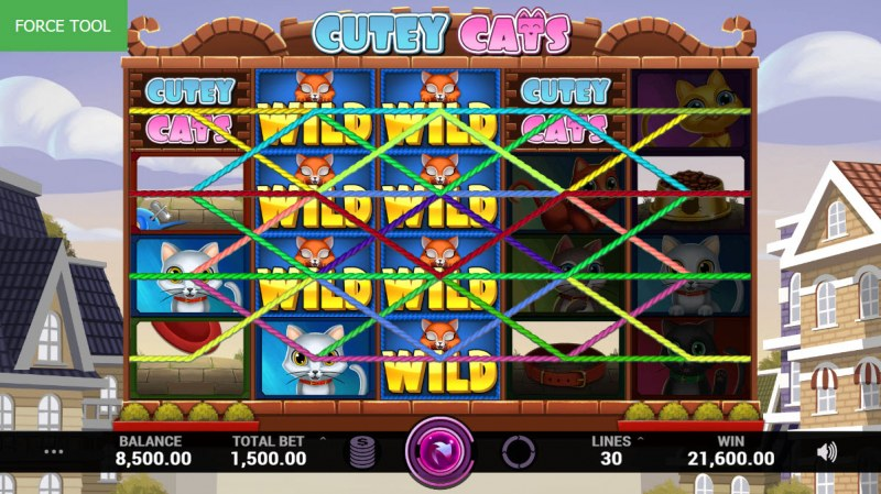 Cutey Cats :: Multiple winning combinations leads to a big win