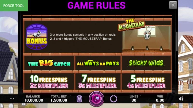 Cutey Cats :: Bonus Game Rules