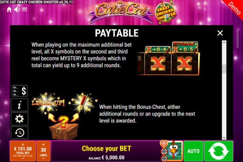 Cutie Cat Crazy Chicken Shooter :: Feature Rules