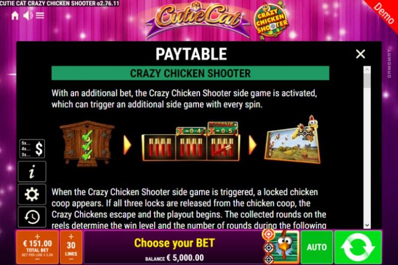 Cutie Cat Crazy Chicken Shooter :: Crazy Chicken Shooter Rules