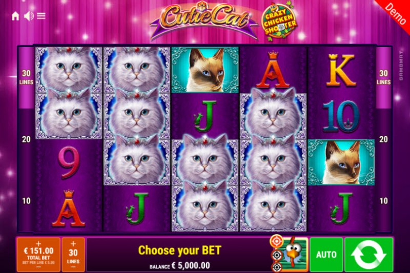 Cutie Cat Crazy Chicken Shooter :: Main Game Board