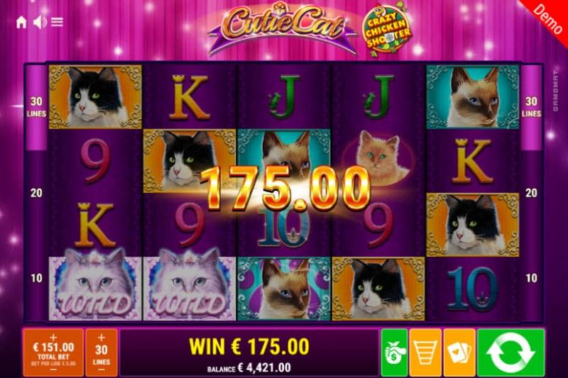 Cutie Cat Crazy Chicken Shooter :: Multiple winning paylines