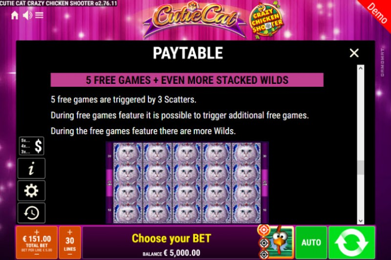 Cutie Cat Crazy Chicken Shooter :: Free Spins Rules