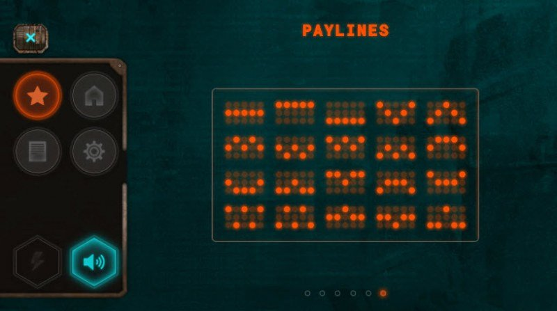 Cyberpunk Wars :: Paylines 1-20