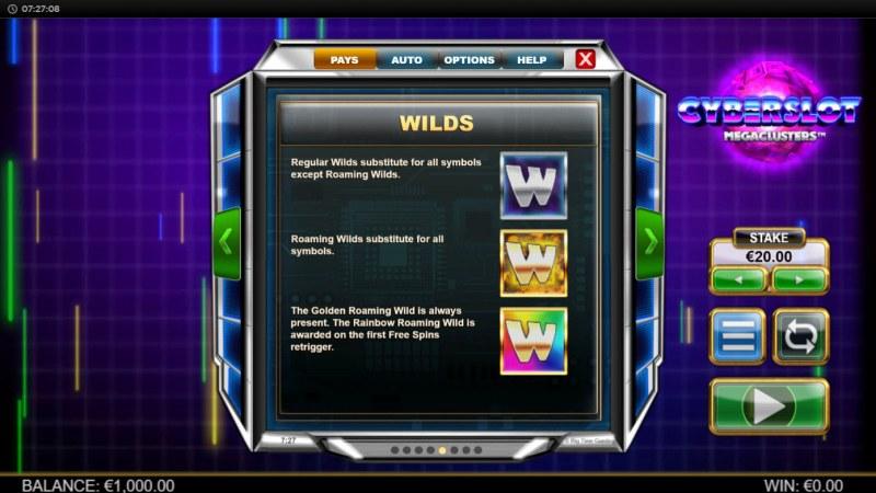 Cyberslot Megaways :: Wild Symbol Rules