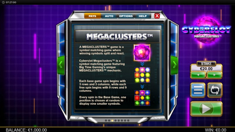Cyberslot Megaways :: Megaclusters
