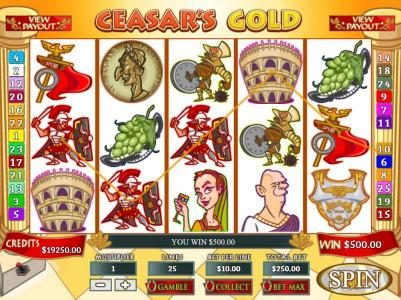 Mission 2 Game featuring the video-Slots Ceasar's Gold with a maximum payout of Jackpot