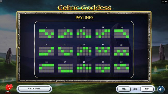 Casino Cruise featuring the Video Slots Celtic Goddess with a maximum payout of $60,000