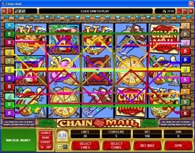 Play slots at Ego Casino: Ego Casino featuring the Video Slots Chain Mail with a maximum payout of $7,500