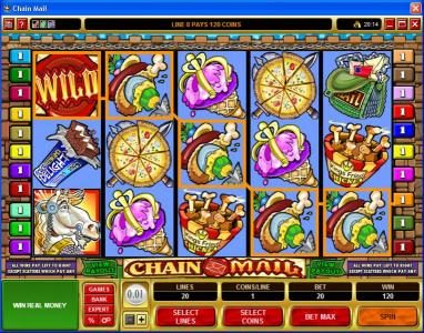 Videoslots featuring the Video Slots Chain Mail with a maximum payout of $7,500