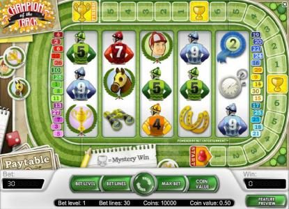 Play slots at Roy Richie: Roy Richie featuring the Video Slots Champion Of The Track with a maximum payout of $20,000