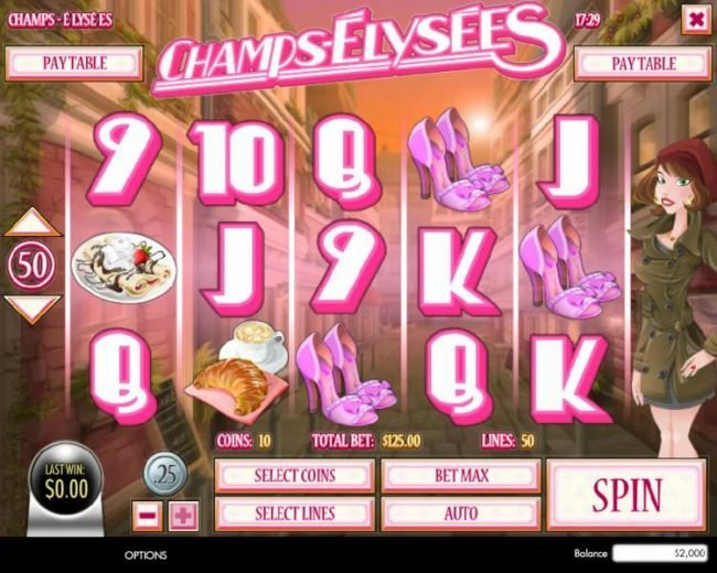 Cafe featuring the Video Slots Champs-Elysees with a maximum payout of $4,000