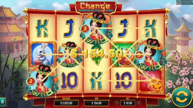 Chang'e Goddess of the Moon :: Multiple winning paylines