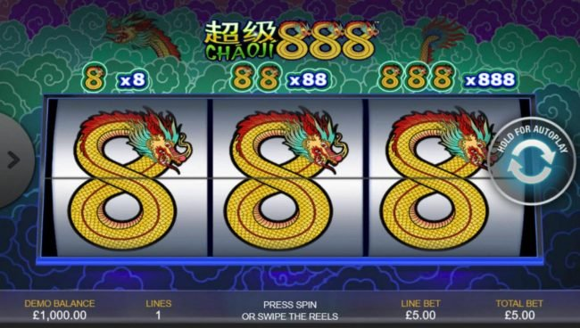 Play slots at Casino.com: Casino.com featuring the Video Slots Chaoji 888 with a maximum payout of $4,440