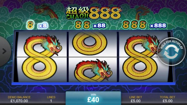 Grand Reef featuring the Video Slots Chaoji 888 with a maximum payout of $4,440