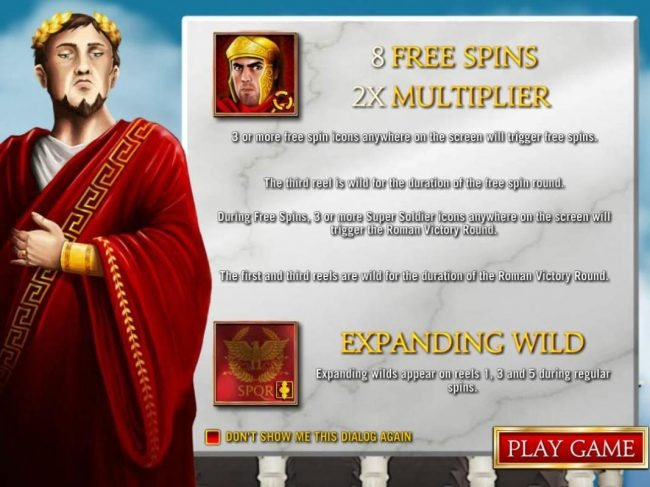 Game features include: Free Spins with 2x multiplier and Expanding Wilds!