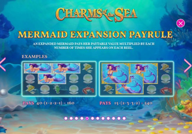 Grand Reef featuring the Video Slots Charms of the Sea with a maximum payout of $5,000,000