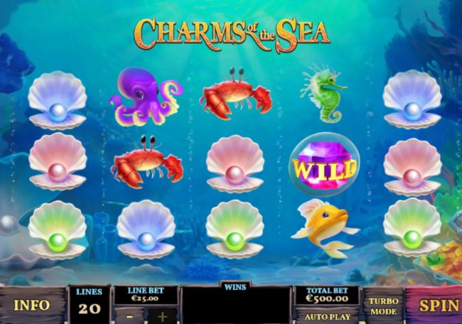 Play slots at Vegas Red: Vegas Red featuring the Video Slots Charms of the Sea with a maximum payout of $5,000,000