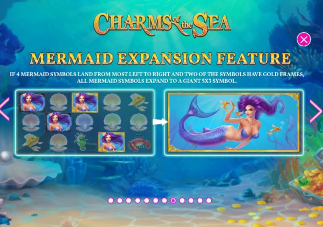 Lota Play featuring the Video Slots Charms of the Sea with a maximum payout of $5,000,000