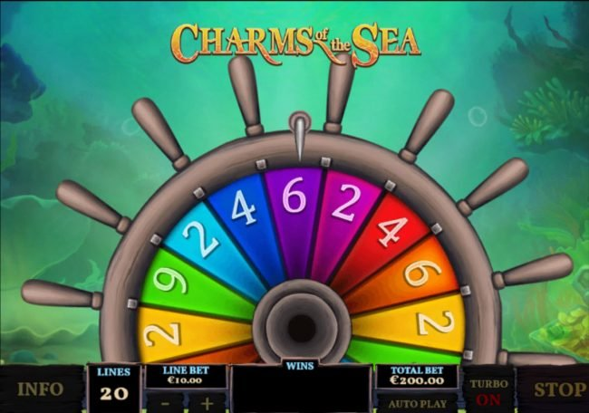 MANSION featuring the Video Slots Charms of the Sea with a maximum payout of $5,000,000