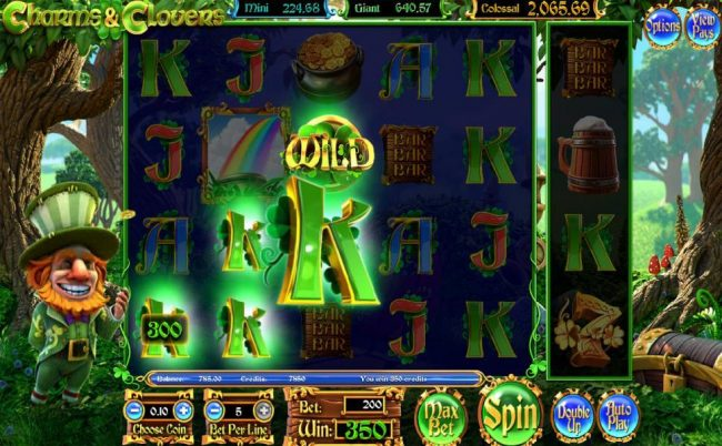 Superior featuring the Video Slots Charms & Clover with a maximum payout of Jackpot