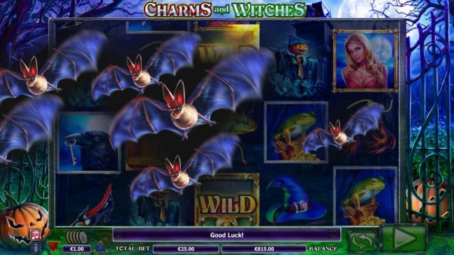 Orientxpress featuring the Video Slots Charms and Witches with a maximum payout of $75,000